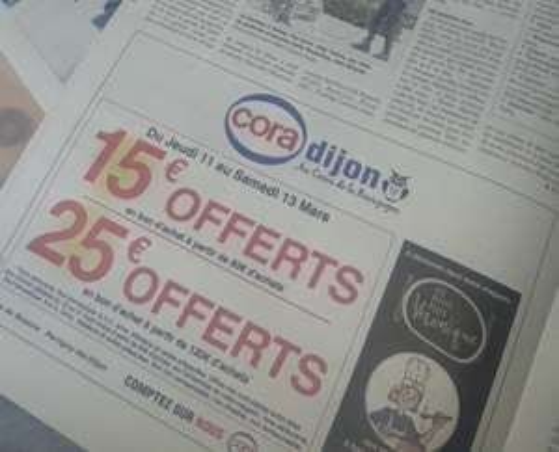 15€ offert en bon d'achat dès 80€ de courses ou 25€ offerts dès 120€ de courses - Perrigny-lès-Dijon (21)