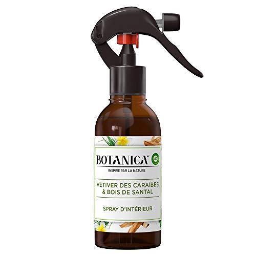 Spray désodorisant d'intérieur Air Wick Botanica Vétiver des Caraïbes & Bois de Santal - 236 ml