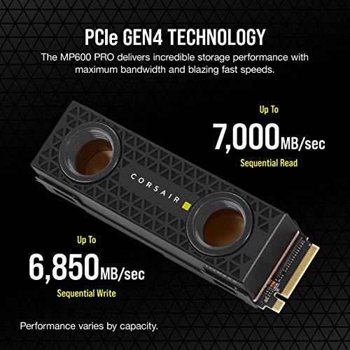 SSD interne M2 NVMe Corsair MP600 Pro Hydro X Edition (TLC Gen4, E18) - 2 To (Frais de port et taxes inclus)