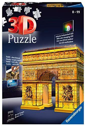 Puzzle 3D Ravensburger Building - Arc de Triomphe illuminé