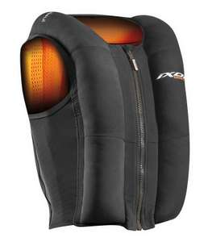 Gilet airbag pour motard Ixon IX-Airbag U03 - noir/orange (du S au XL) - MotardPasCher.com