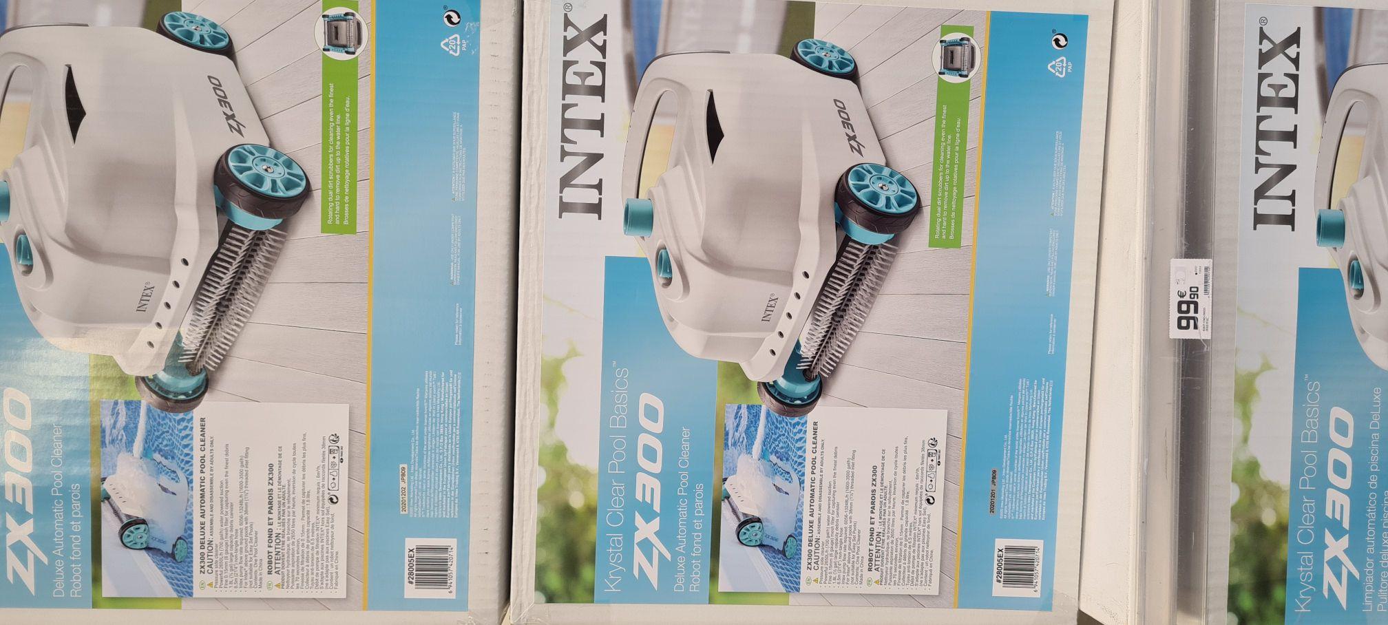 Robot aspirateur Piscine Intex ZX300 hydraulique pour fond et paroi (dans une sélection de magasins)
