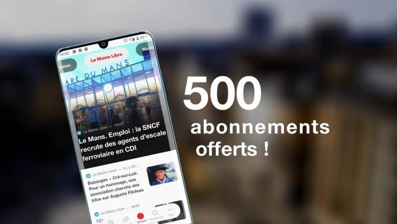 [Nouveaux clients] 2 mois d'abonnement à l'Edition numérique du journal Le Maine Libre offerts (Dématérialisé - lemainelibre.fr)