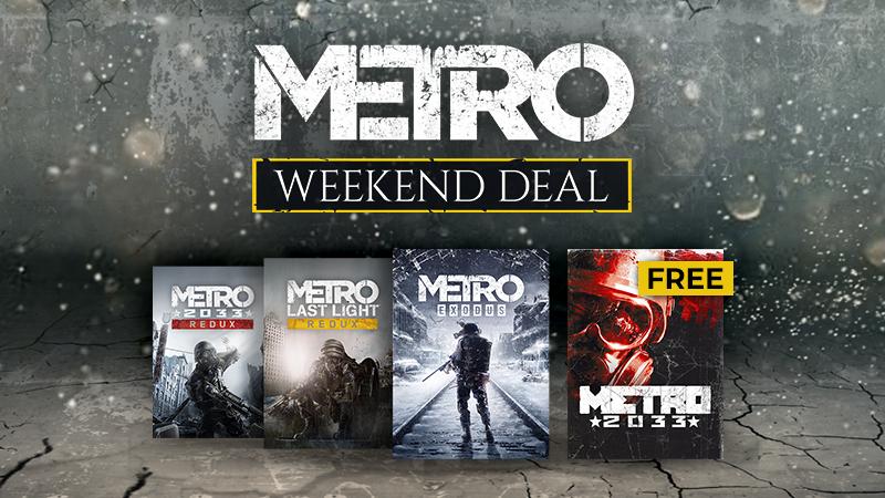 Pack Metro 2033 Redux + Last Light Redux + Metro Exodus Gold sur PC (Dématérialisé)