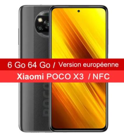 """Smartphone 6.67"""" Xiaomi Poco X3 NFC - 64 Go (Vendeur Tiers)"""