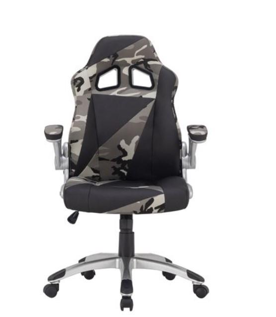 Fauteuil de bureau Duo - en tissu, coloris camouflage et noir