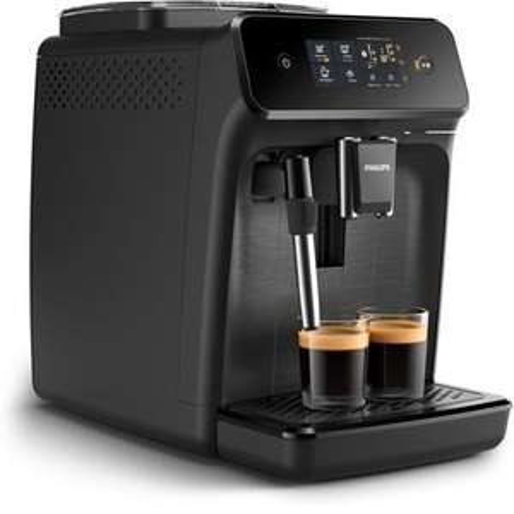 Machine à café Espresso Automatique Philips EP1220/00 - Broyeur Grains,, Mousseur à lait intégré, Noir mat
