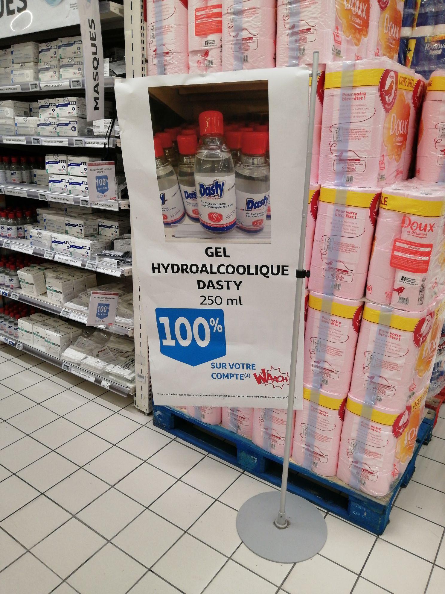 Gel Hydroalcoolique Dasty - 250ml 100% remboursé (Via 2.90€ sur Carte Fidélité) - Biganos (33)