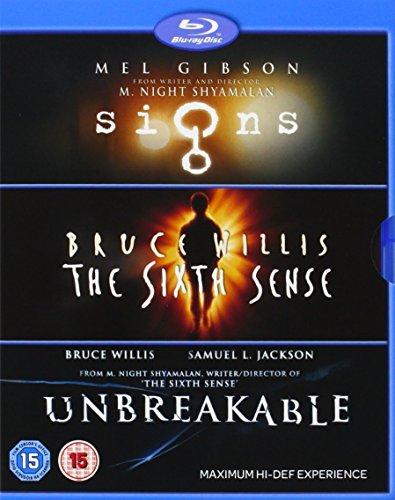 Collection blu-ray M. Night Shyamalan : Signs / The Sixth Sense / Unbreakable (Import Anglais)