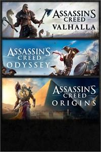 Pack Assassin's Creed Valhalla + Odyssey + Origins sur Xbox One & Series X|S (Dématérialisé - BR Store)