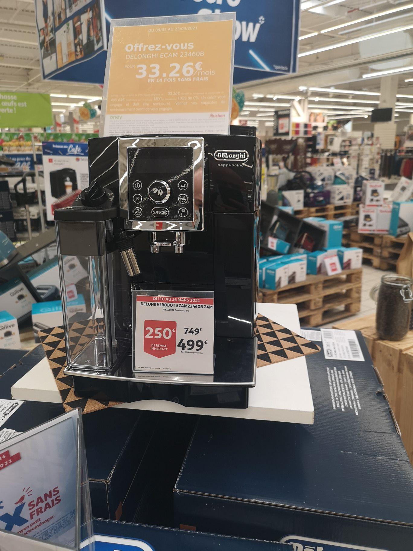 Machine à café Delonghi Robot Ecam 23460B 24M - Auchan Biganos (33) - 14 fois sans frais