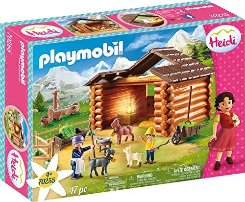 Jouet Playmobil Heidi (70255) - Peter avec Étable de Chèvres
