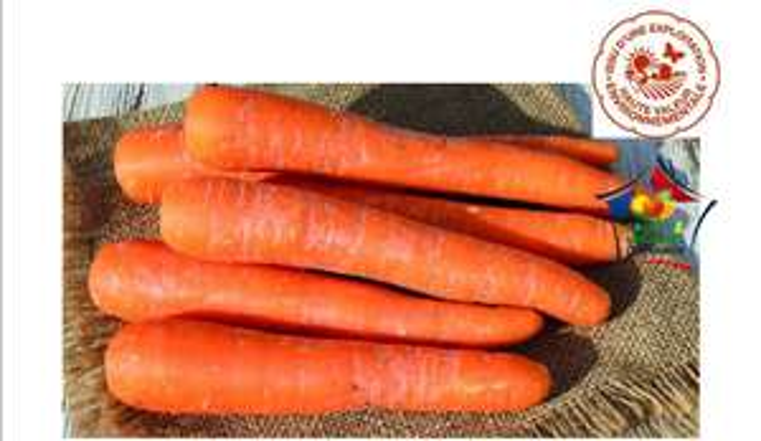 Sachet de 1kg de carottes Haute Valeur Environnementale HVE - Catégorie 1, Origine France (1 kg)