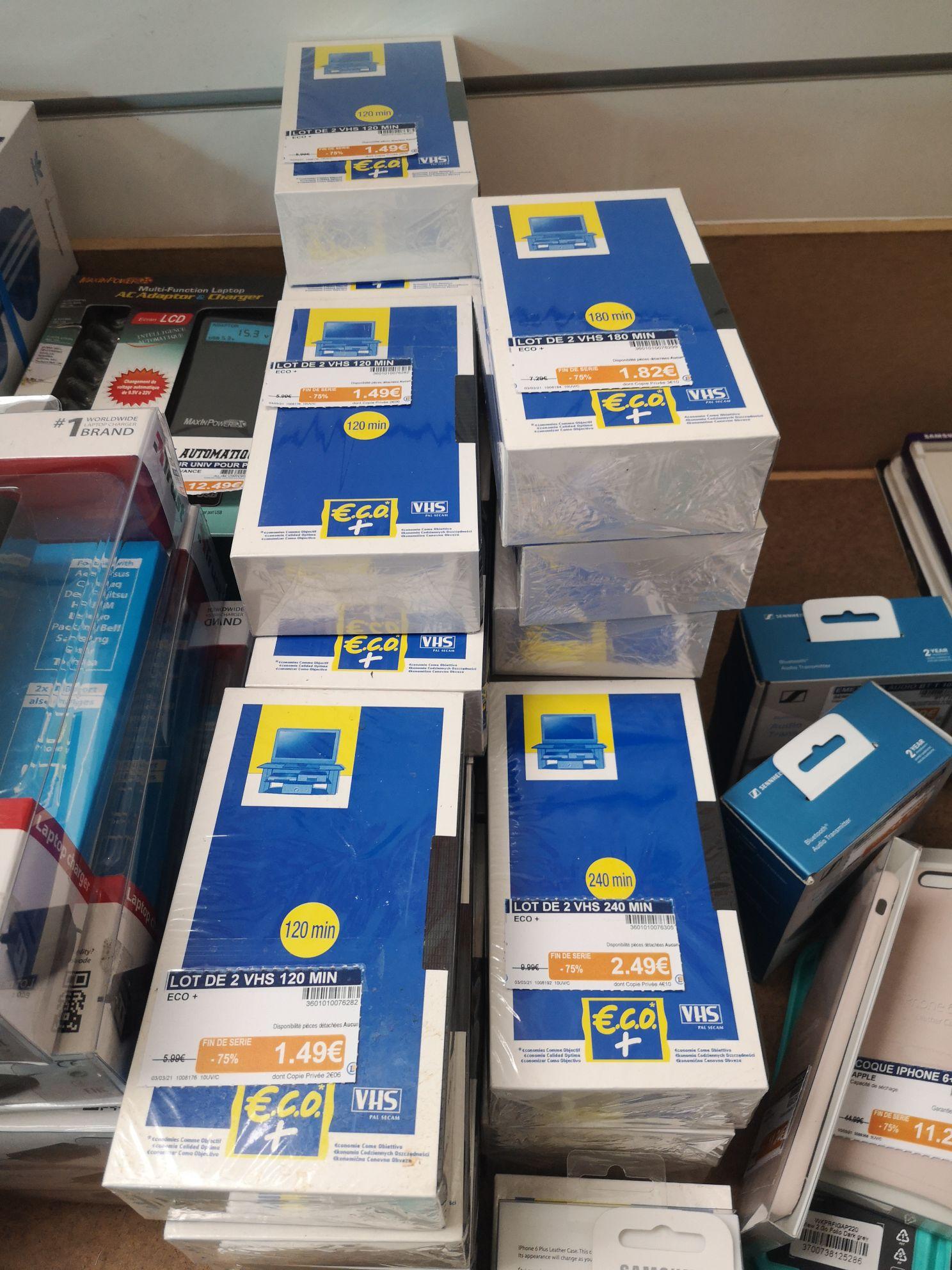 Lot de 2 cassettes VHS vierges 120 min - Saint Gilles Croix de Vie (85)