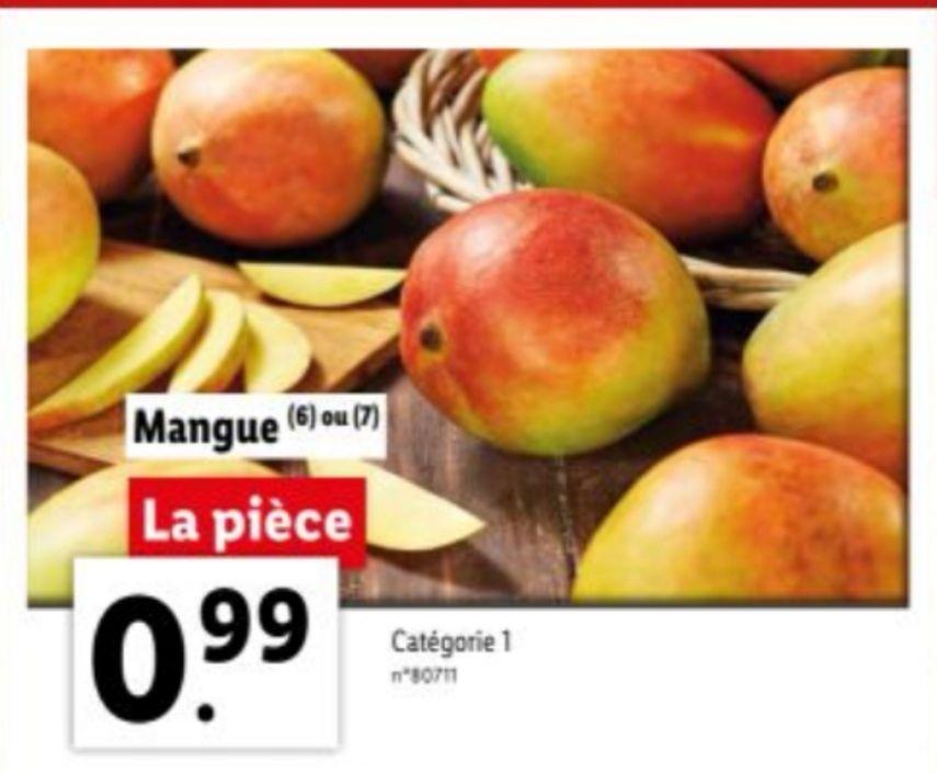 Mangue - Catégorie 1, Origine Brésil ou Pérou (l'unité)