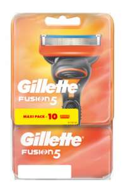 Lot de 10 lames de rasoir Gillette Fusion 5 (via 24.43€ sur la carte - valable dans une sélection de magasins)