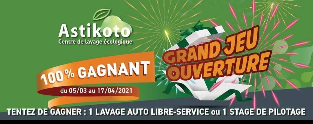 Jeu 100% gagnant - 1 lavage auto en libre service offert - Astikoto St Herblain (44)Cholet (49)