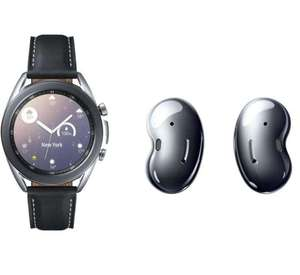 Montre connectée Samsung Galaxy Watch 3 (41 mm, Noir) + Ecouteurs sans fil Galaxy Buds live (Bluetooth)