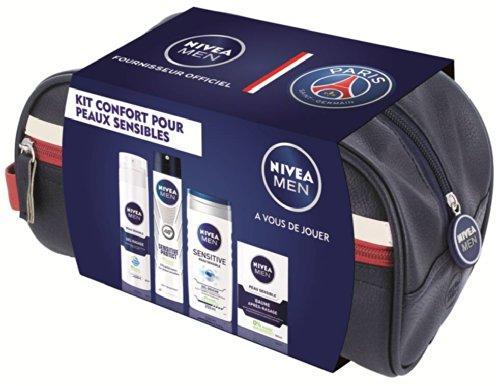 Trousse de toilette Nivea-PSG + 4 produits Nivea Peaux Sensibles