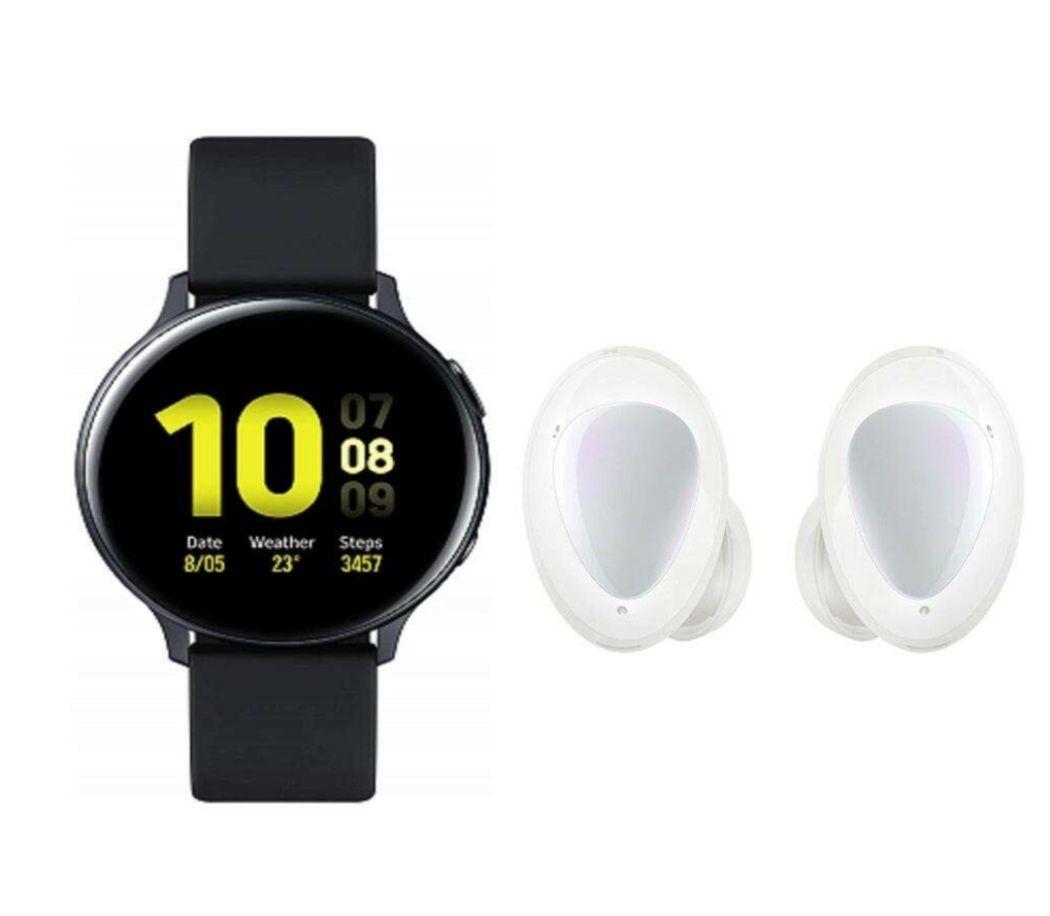 Montre connectée Samsung Galaxy Watch Active 2 Explorer Edition - Noir, 40mm + Écouteurs sans fil Galaxy Buds+