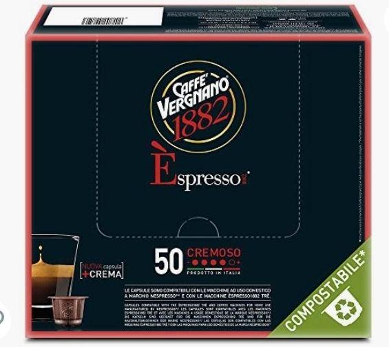 Pack de 50 capsules compatibles Nespresso Caffè Vergnano