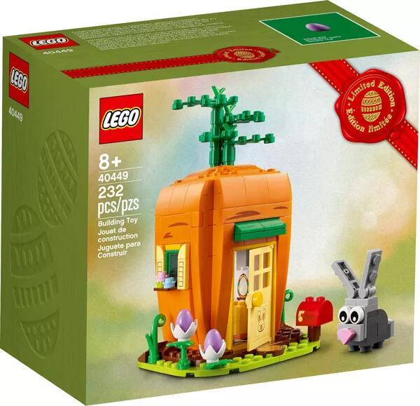 Jeu de construction Lego : La maison carotte du lapin de Pâques (40449) offert dès 60€ d'achat