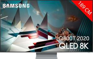 "TV 75"" Samsung QE75Q800T (2020) - 8K, HDR 2000, Smart TV (Frontaliers Suisse)"