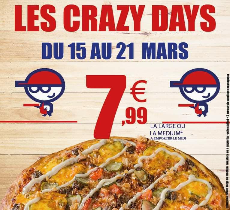 Toutes les pizzas Medium ou Large à 7,99€ - Capitaine pizza Kingersheim (68)