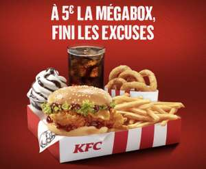 Mégabox : Double Krunch + 5 The Original Onion Rings + Frite + Boisson + Petit sundae à 5€