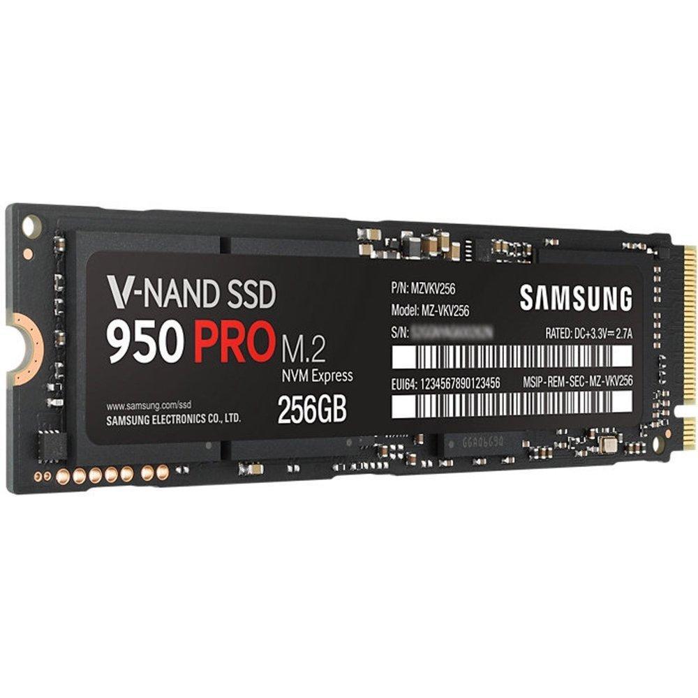 SSD interne Samsung 950 Pro (Format M.2, Interface PCIe 3.0 x4  NVMe) - 256 Go