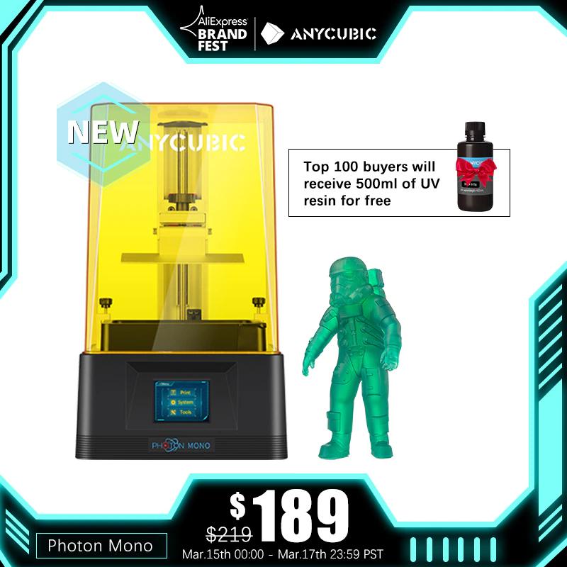 Imprimante 3D Anycubic Photon Mono - entrepôt France (146.41€ via SUPERDEALSU14)