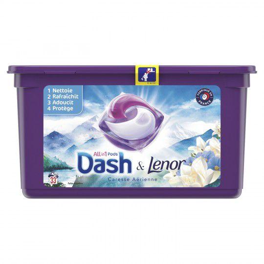 """Sélection de produits en promotion - Ex: Boite de 33 Capsules de Lessive """" Dash & Lenor 3en1"""" - Diférentes Variétés (via BDR + ODR)"""