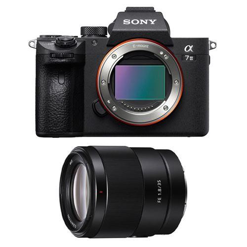 Appareil Photo Numérique Hybride Sony Alpha 7 III + Objectif Hybride Sony FE 35mm f/1.8 SEL Noir