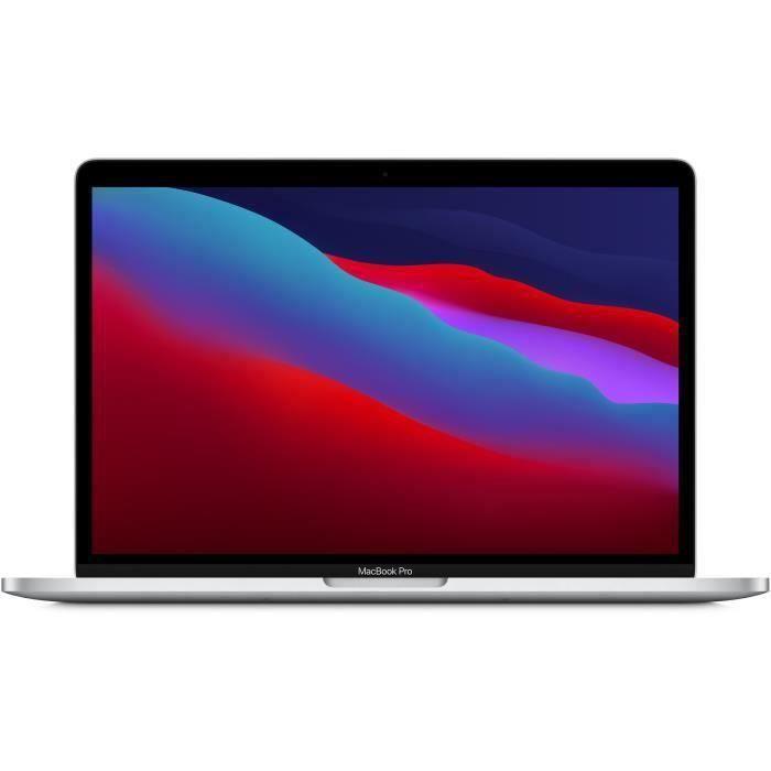 """PC Portable 13.3"""" Apple MacBook Pro Touch Bar (2020) - Apple M1, 8 Go RAM, SSD 512 Go, Argent"""