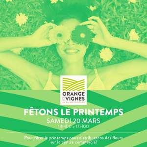 Distribution gratuite de fleurs - Orange (84)