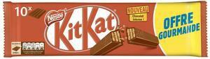 Paquet de 10 barres de chocolat Kit Kat