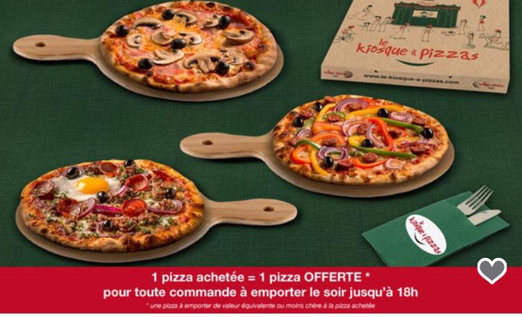 Une pizza achetée = la seconde à 1€ (via coupon) - Le Kiosque à Pizzas