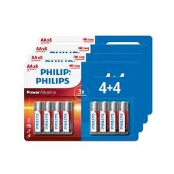 Lot de 32 piles Philips alcaline AA ou AAA