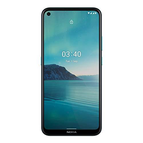 """Smartphone 6.39"""" Nokia 3.4 - HD+, SnapDragon 460, 4 Go de RAM, 64 Go, bleu"""