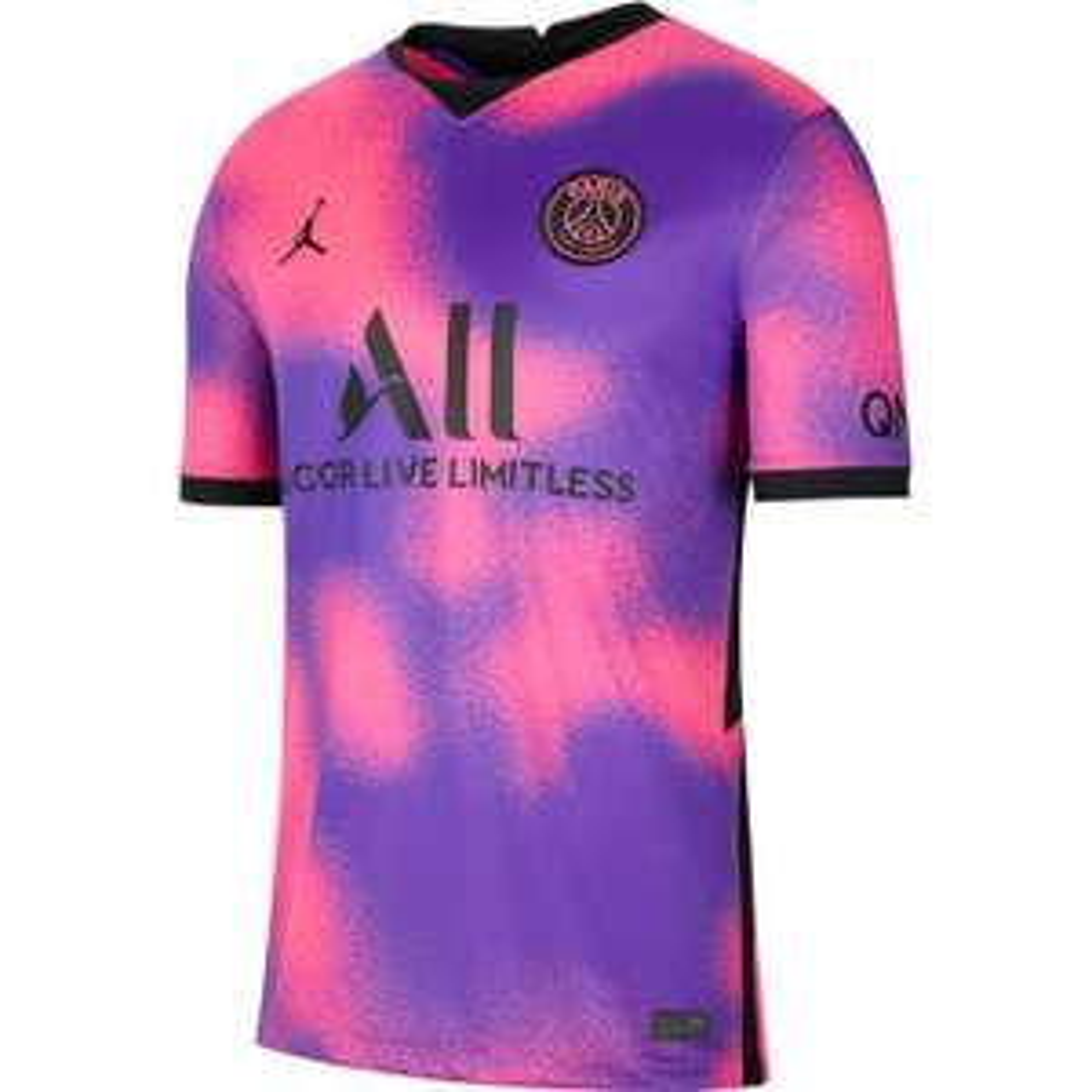 Maillot de football Nike PSG x Jordan 20/21 quatrième maillot - rose/violet (du S au XL)