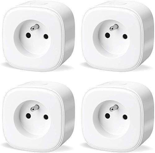 Lot de 4 Prises Connectées WiFi Meross (FR) - Compatibles Alexa, Google Home et SmartThings (Vendeur tiers)