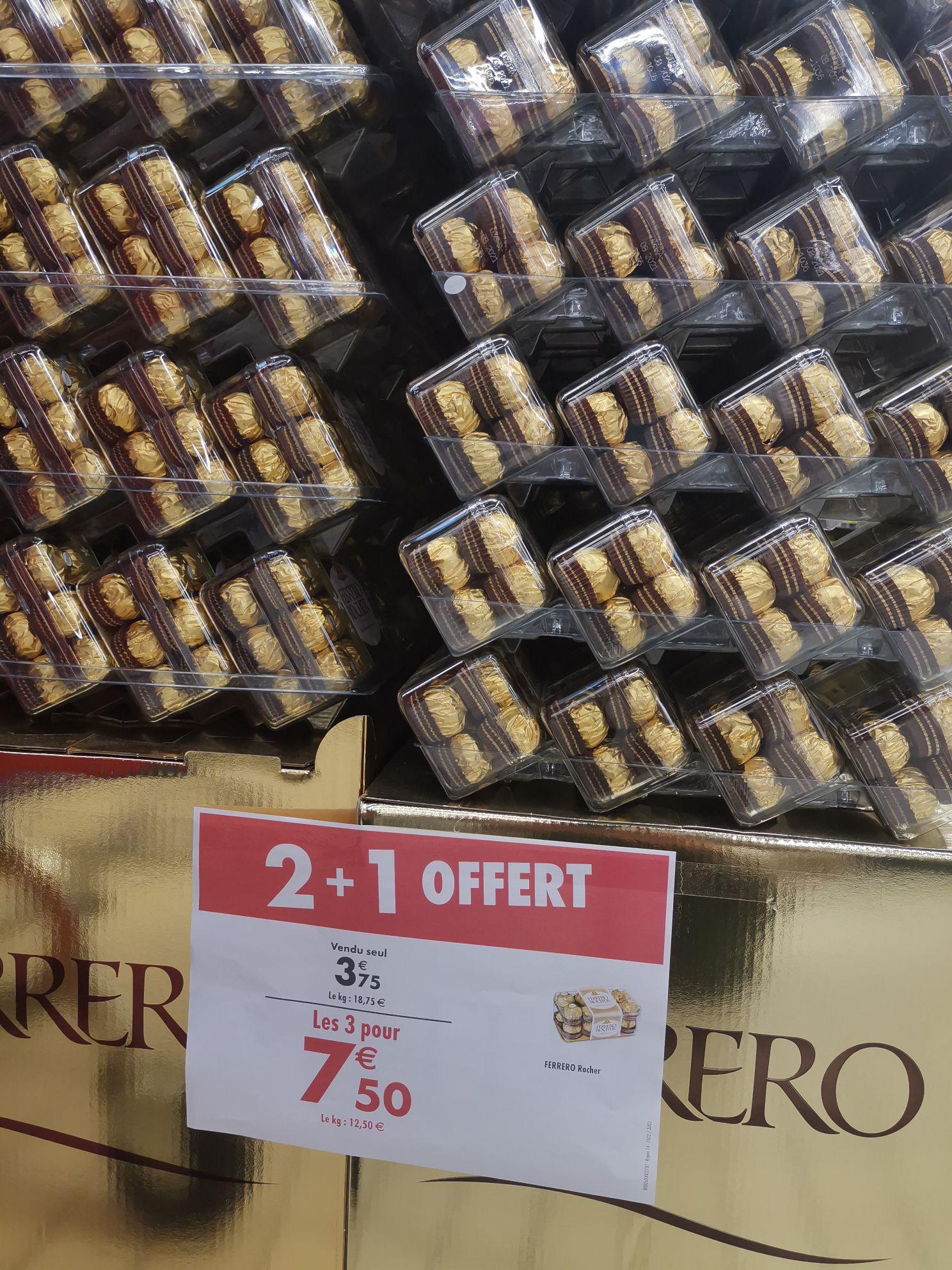 Lot de 3 boîtes de 16 chocolats Ferrero Rocher - Aubervilliers / Montreuil (93)