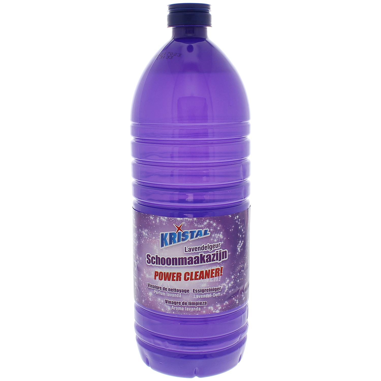 Bouteille de vinaigre de nettoyage Kristal Power Cleaner - parfums eucalyptus ou lavande, 1 L