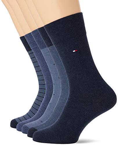 Lot de 5 paires chaussettes Tommy Hilfiger - bleu, taille 43-46