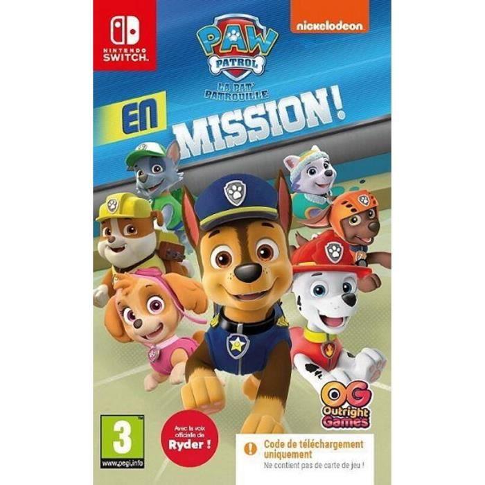 Paw Patrol: La Pat'Patrouille en Mission ! sur Switch (code dans la boite)