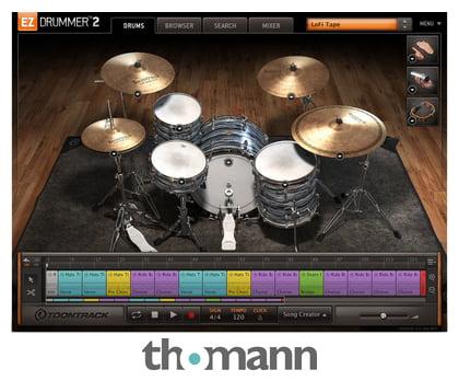 Logiciel de composition musicale Toontrack EZ Drummer 2 (Dématérialisé)