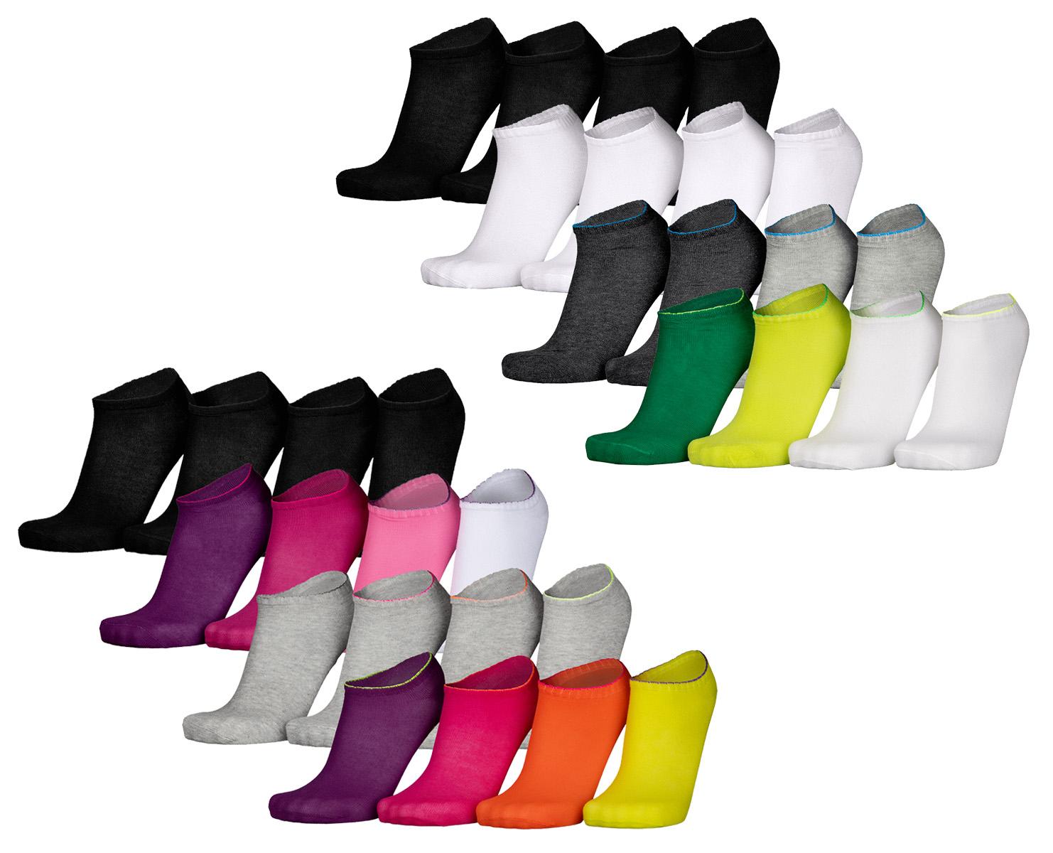 Lot de 36 paires de chaussettes Skechers - Tailles 35/38, 39/42, 43/46 et 47/49 - Coupe basse ou cheville - Plusieurs coloris