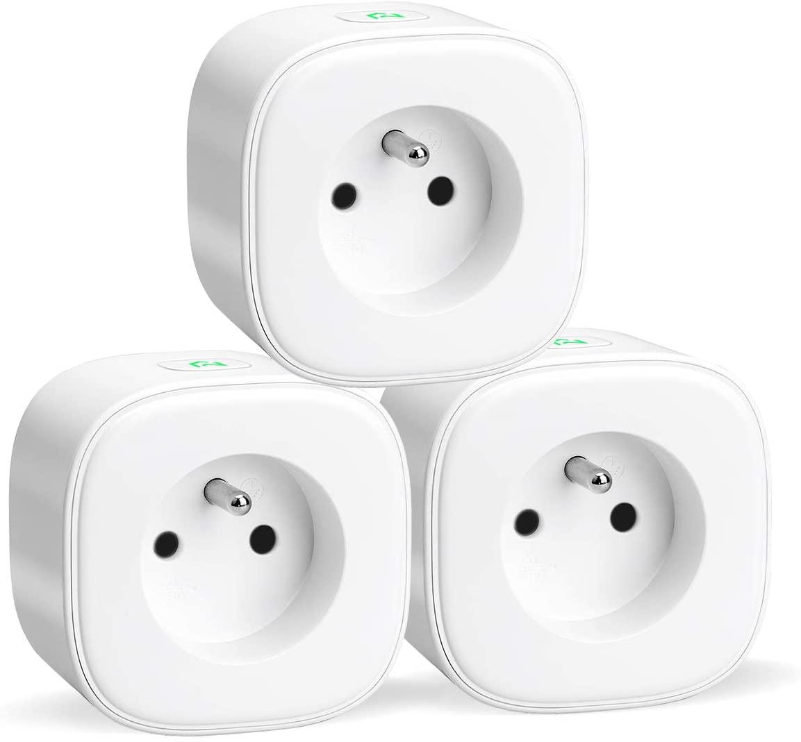 Lot de 3 Prises connectées WiFi Meross 16A (FR) avec Suivi Consommation - Compatibles Alexa, Google Home et SmartThings (Vendeur tiers)