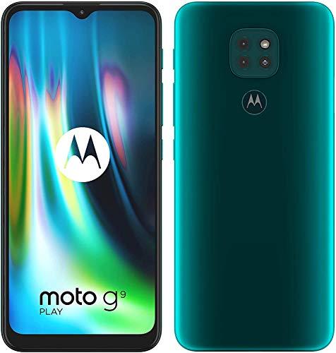 """Smartphone 6.4"""" Motorola Moto G9 Play - HD+, SnapDragon 662, 4 Go de RAM, 64 Go, Vert"""