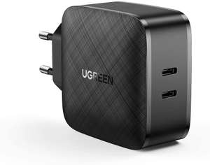 Chargeur UGreen (65W) - 2 Type-C, Quick Charge 3.0, Power Delivery 3.0, PPS, Compatible MacBook Pro & Switch (Vendeur tiers)